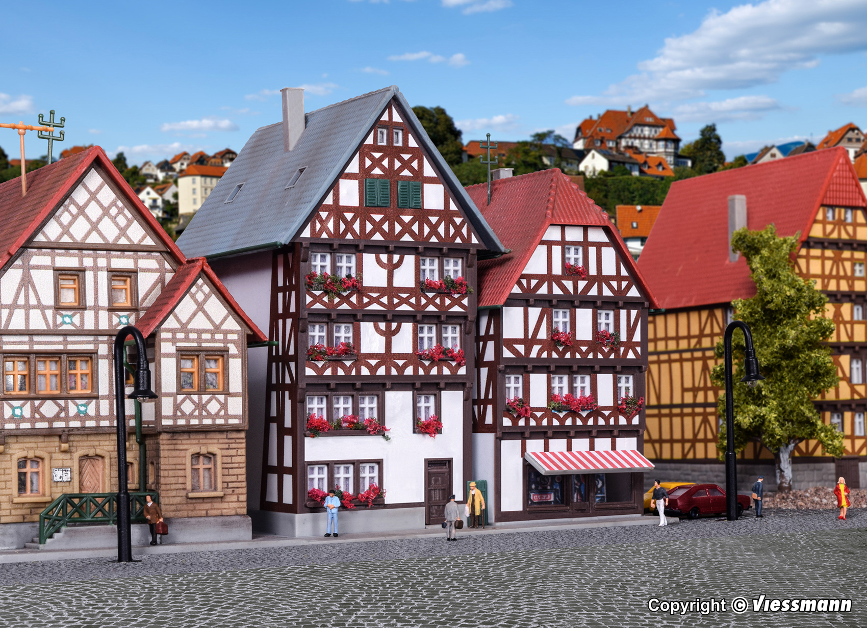Kibri 36404 Z ristikkotalot half timbered houses model