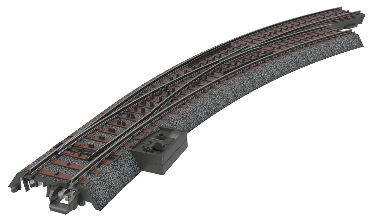 Märklin 24772 H0 Kaarivaihde oikea R3 - Right Curved Turnout