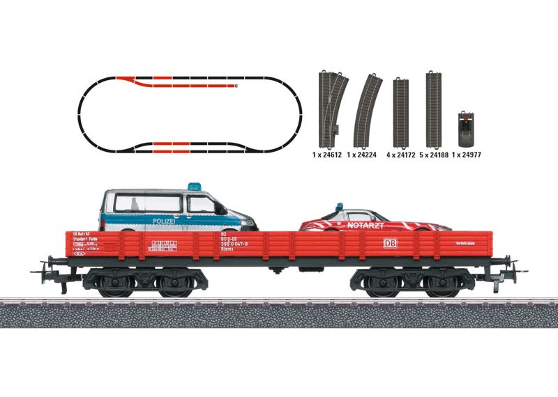 Märklin H0 78752 Paloasema laajennussarja - Fire Station expansion set