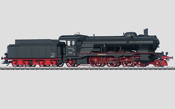 Märklin H0 37115 BR 18.1 höyryveturi - steam locomotive