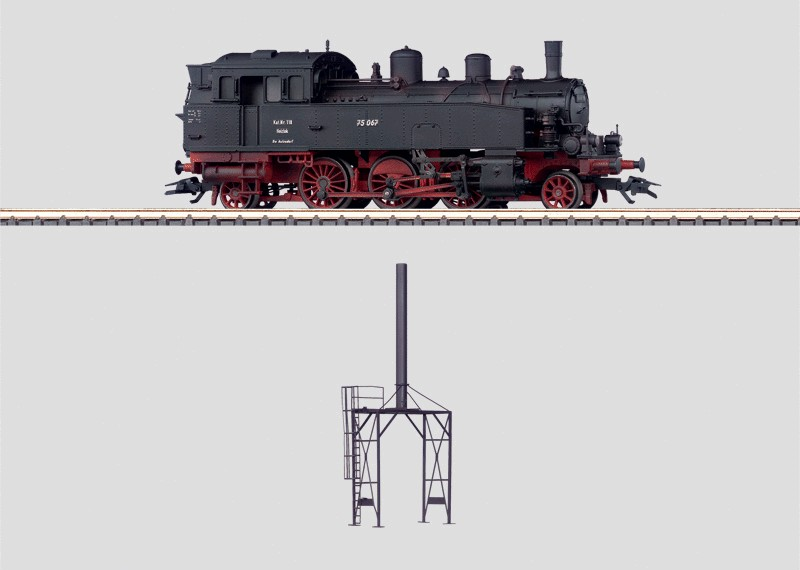 Märklin H0 37133 BR 75.0 höyryveturi - steam locomotive