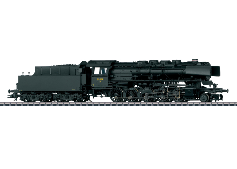 Märklin H0 37818 Litra N höyryveturi - steam locomotive