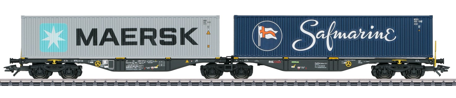 Märklin H0 47806 Sggrss -konttivaunu H0 - Double Container Transport Car