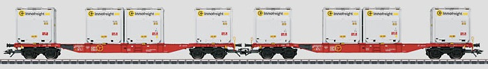 Märklin H0 47076-01 kaksiosainen konttivaunusarja - set of two container cars