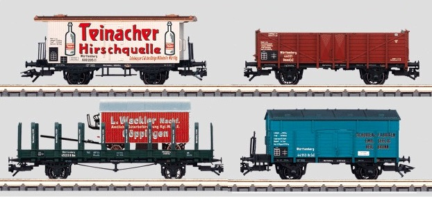 Märklin H0 48808 4-osainen tavaravaunusarja - set of four freight cars