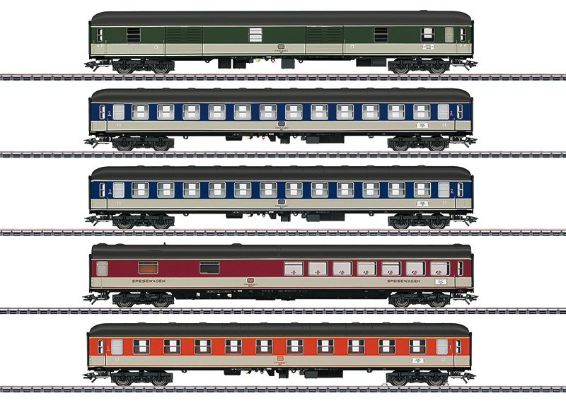 Märklin H0 43917 Pop Design 5-osainen matkustajavaunusarja - set of 5 passenger cars