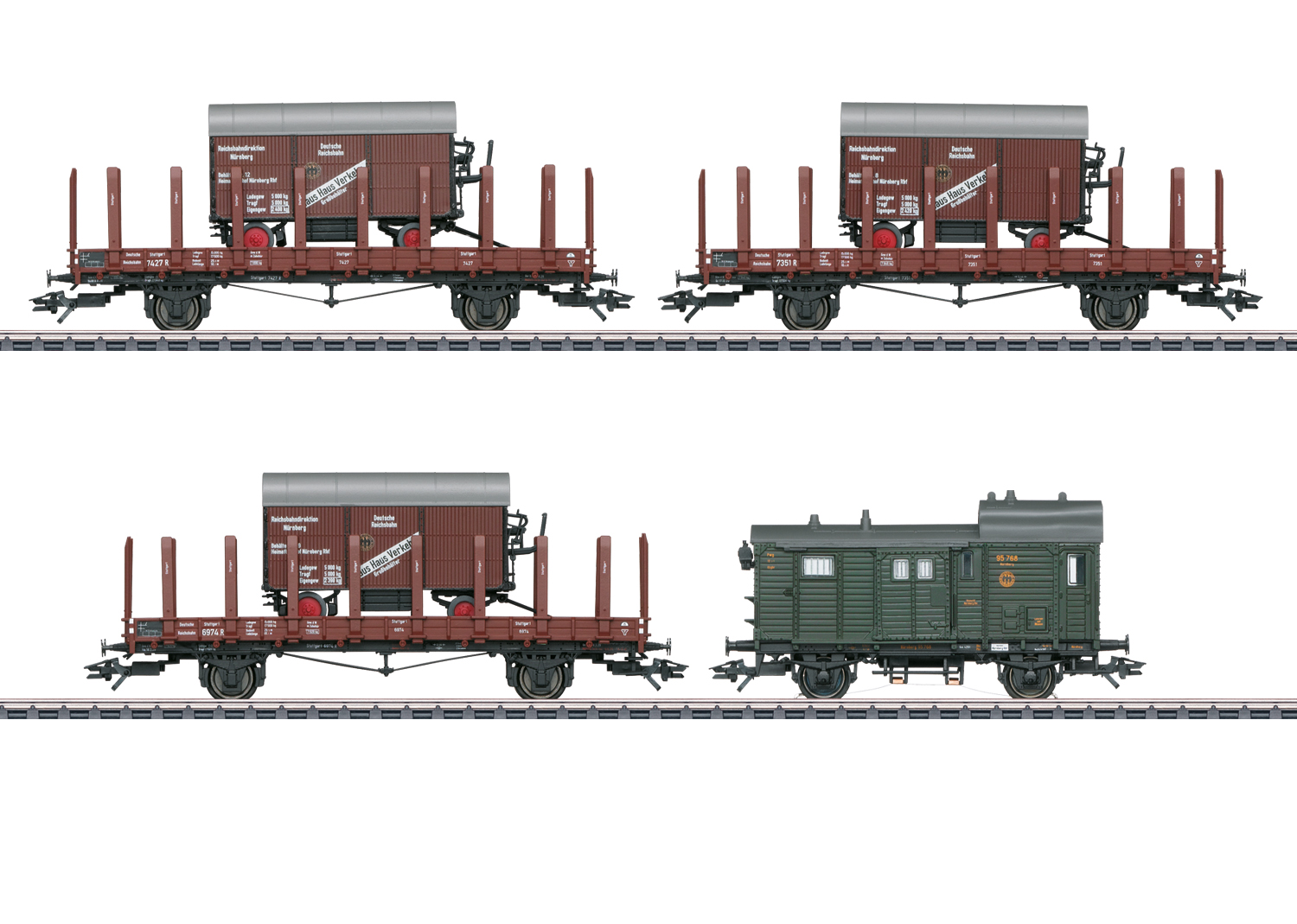 Märklin H0 48829 4-osainen tavaravaunusarja - set of four freight cars