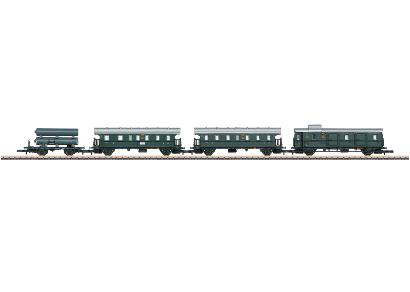 Märklin Z 87508 4-osainen matkustajajunan vaunusarja - passenger train railway carriage set