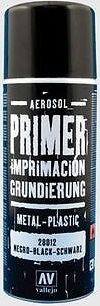 Acrylicos Vallejo Surface Primer Spray - Black