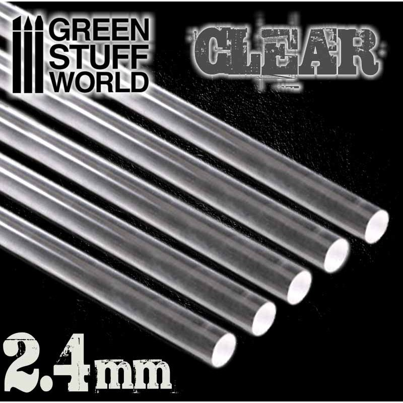 9856 Green Stuff World 2.4mm akryylitanko - acrylic rods