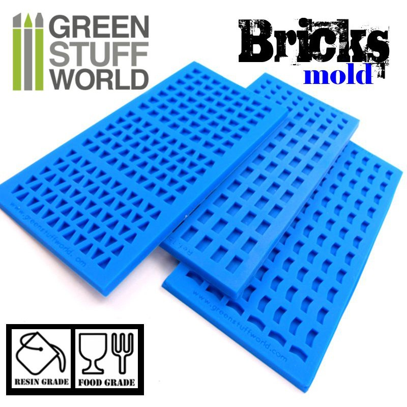 1507 Green Stuff World tillimuotti - brick mould