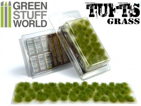 1245 Green Stuff World ruohotuppo 6mm - grass tuft