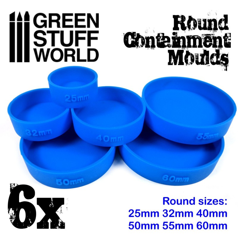 2140 Green Stuff World pyöreä silikonimuotti - Round moulds