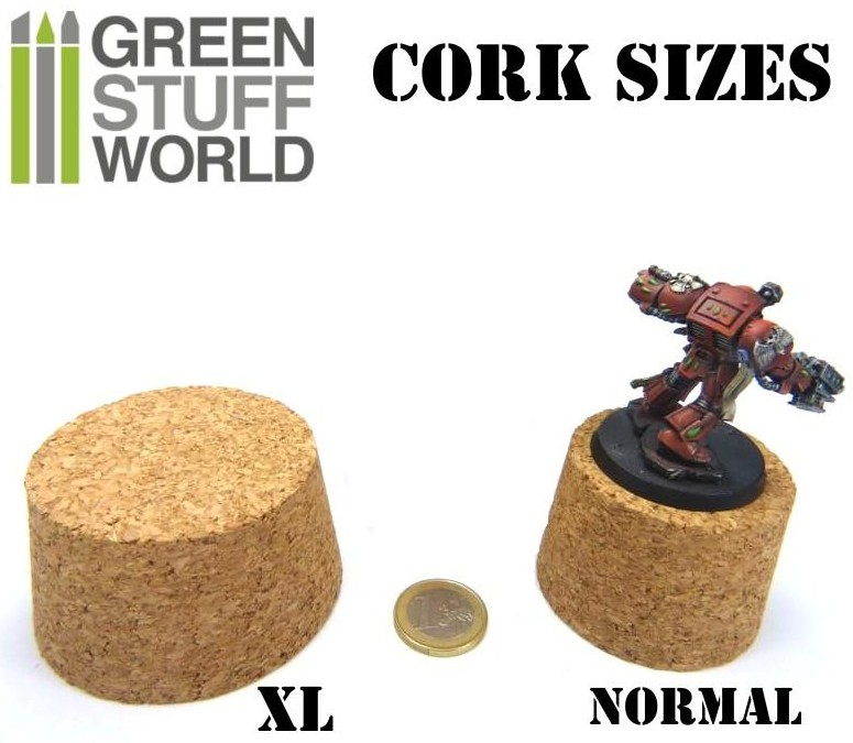 1432 & 1007 Green Stuff World veistokorkki - sculpting cork