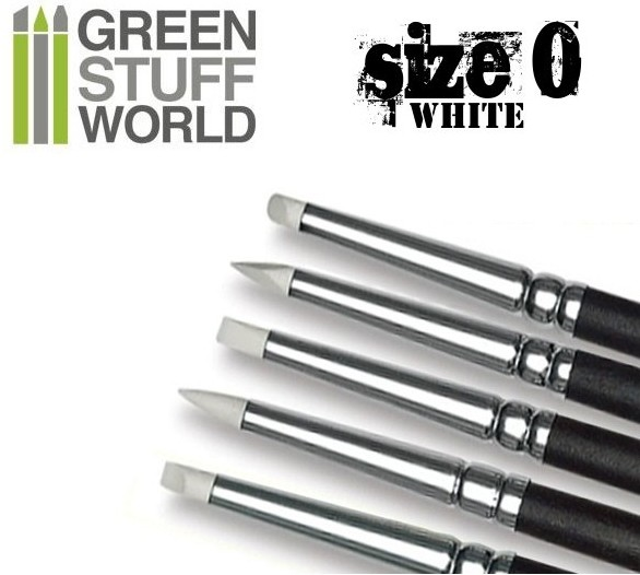 1025 Green Stuff World silikoniveistosivellin, pehmeä - sculpting brush, soft